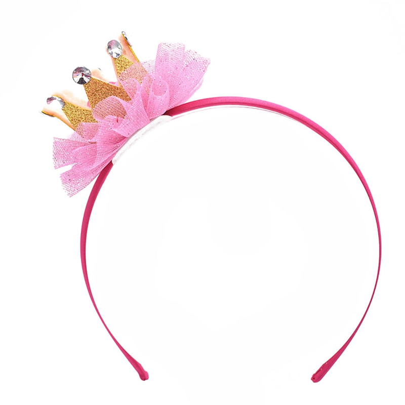 Children Lace Crown Hairbands Tiaras Hoop For Hair Clasp Girls 3 Colors Hair Band Headbands Ornaments Hair Accessoies