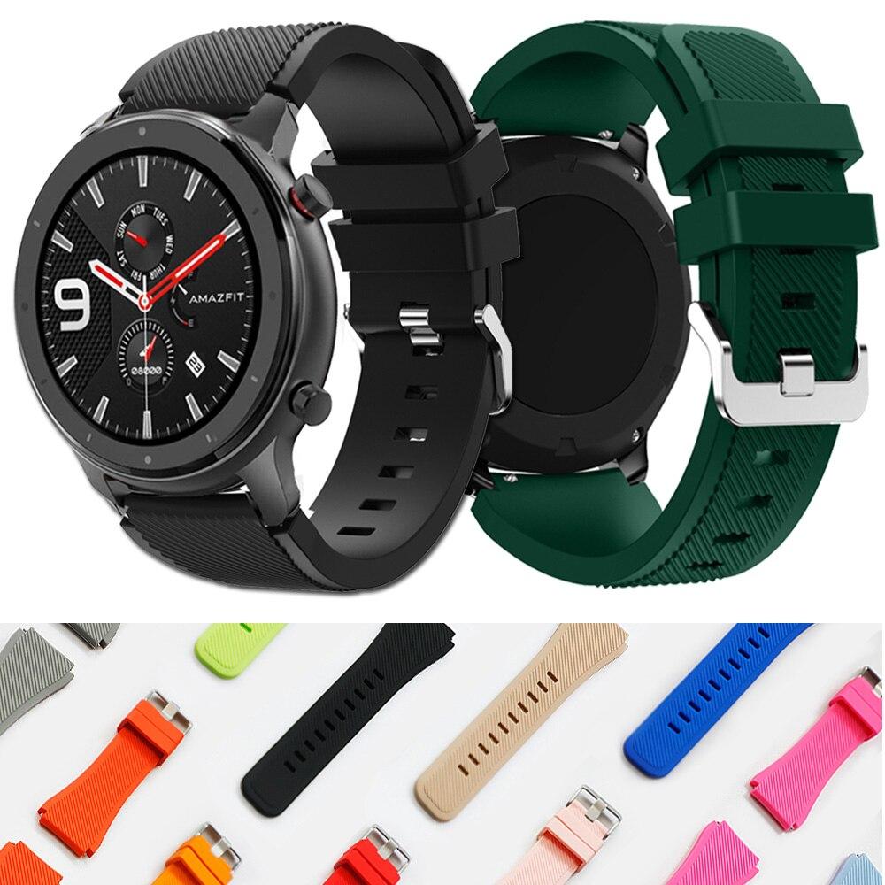 Soft Silicone Watch Band Strap For Huami Amazfit GTR 47mm Amazfit 2 2S Strap 22mm Watchband Sport Pulseira Correa Bracelet Belt