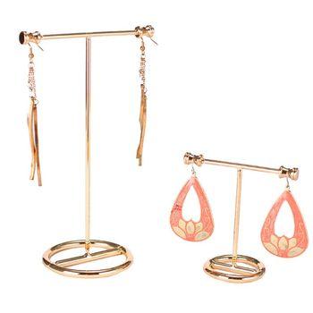 Jewelry Display Stand Show Rack Metal Gold Earrings Rack Earrings Storage Necklace Bracelet Storage Jewelry Showcase цена 2017