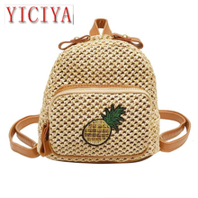 Travel Backpacks Women Woven Small Shoulder Bags Fashion Female Small Backpack Rucksack Satchel Schoolbag Back Pack Mochilas цена в Москве и Питере