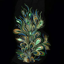 Diy инструмент для творчества расшитое пайетками павлин ткань