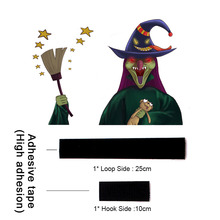 Windshield Halloween Vehicle Removable Waterproof Accessories Decal Witch Car Rear Tags PVC Decoration Reusable Wiper Sticker