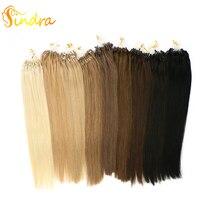 Sindra волосы для наращивания на микро кольцах волосы remy 14-24 дюйма человеческие волосы для наращивания на микро-кольцах