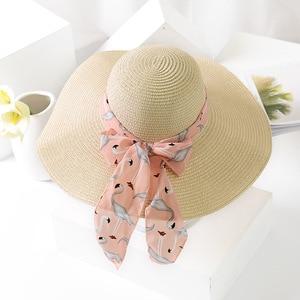 Image 5 - Chapéus de sol femininos uspop, chapéus de palha feitos à mão para mulheres, fita de laço, aba larga, chapéu de praia, casual, verão tampa anti uv da sombra