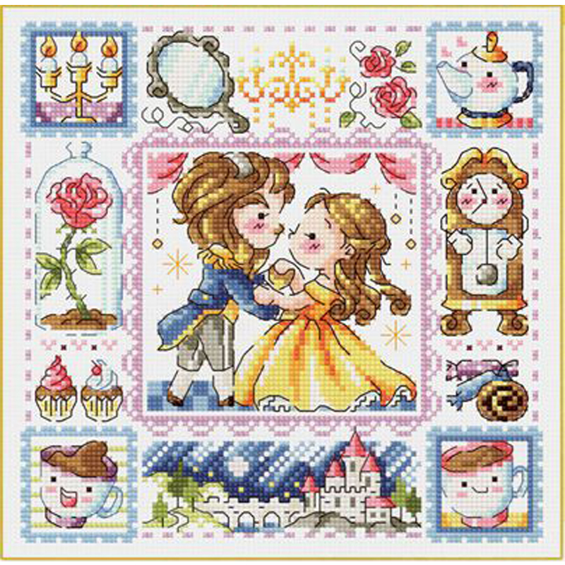 Bothy Threads Fairy Tales Counted Cross Stitch Beauty and the Beast