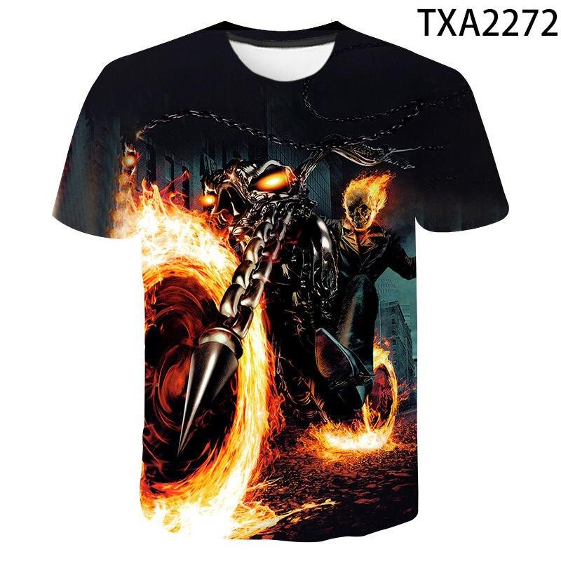 Halloween Ghost Rider T-ShirtHalloween SkullHalloween TeenHalloween T-Shirt For MenHalloween GiftGhost Rider