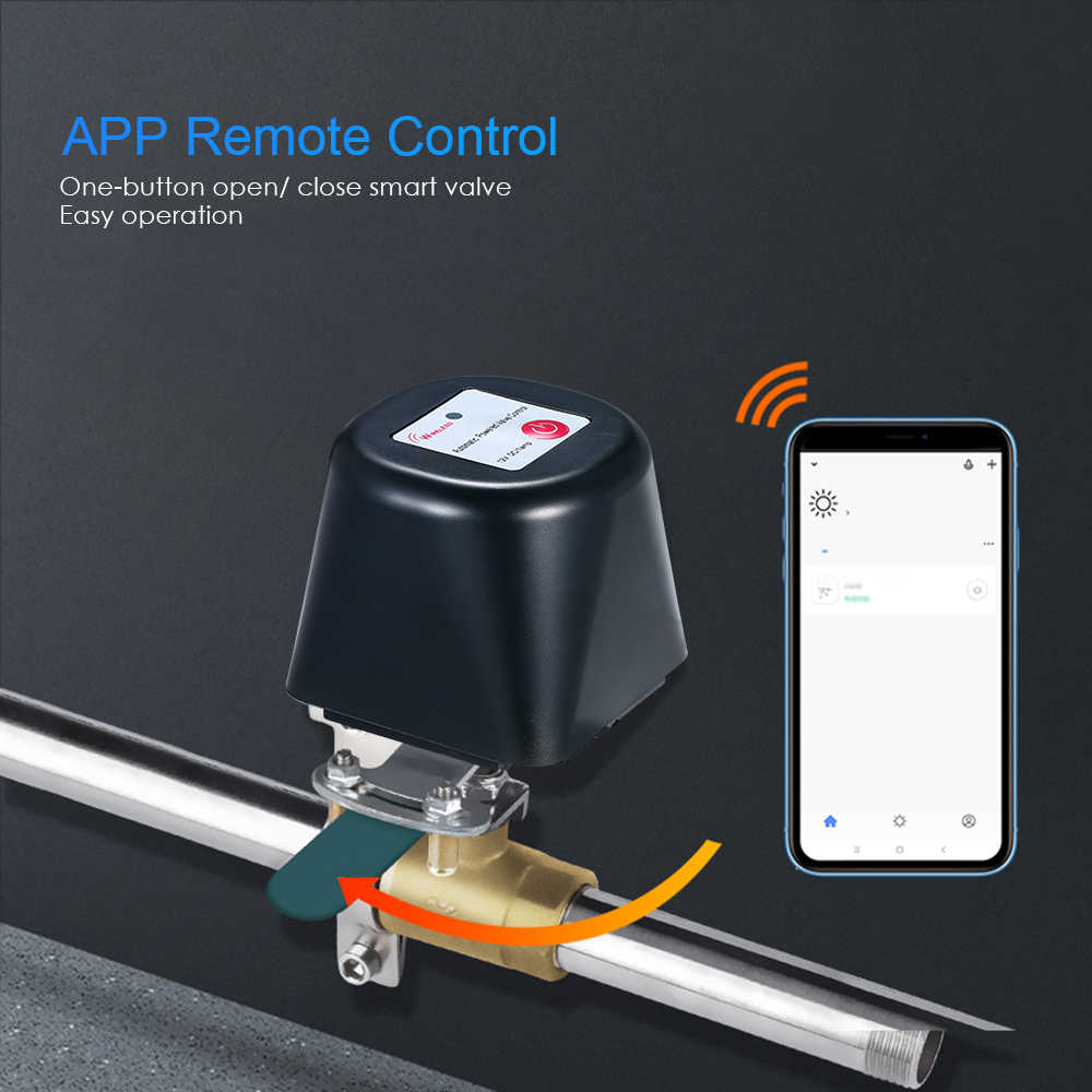 Smart WIFI Gas Water Valve Controller APP Kontrol Otomatis Listrik Switch Nirkabel Remote Control Valve Switch Air Gas Alarm