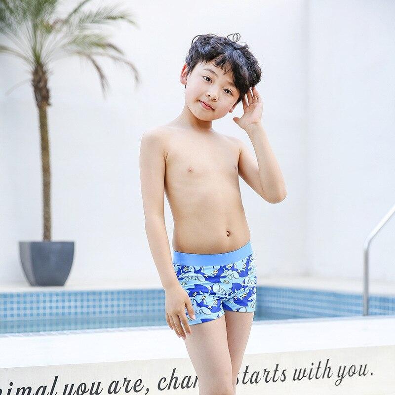2018 New Style Hot Sales BOY'S Swimming Trunks Cartoon Shark Pattern Boxer Shorts BOY'S CHILDREN'S Swimming Trunks