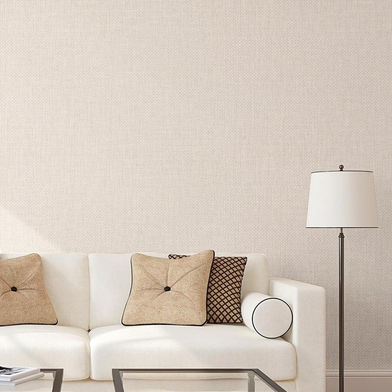 Flax Wall Cloth Modern Minimalist Seamless Wall Cloth Plain Color Living Room Bedroom Wall Top Grade European Style Wall Coverin