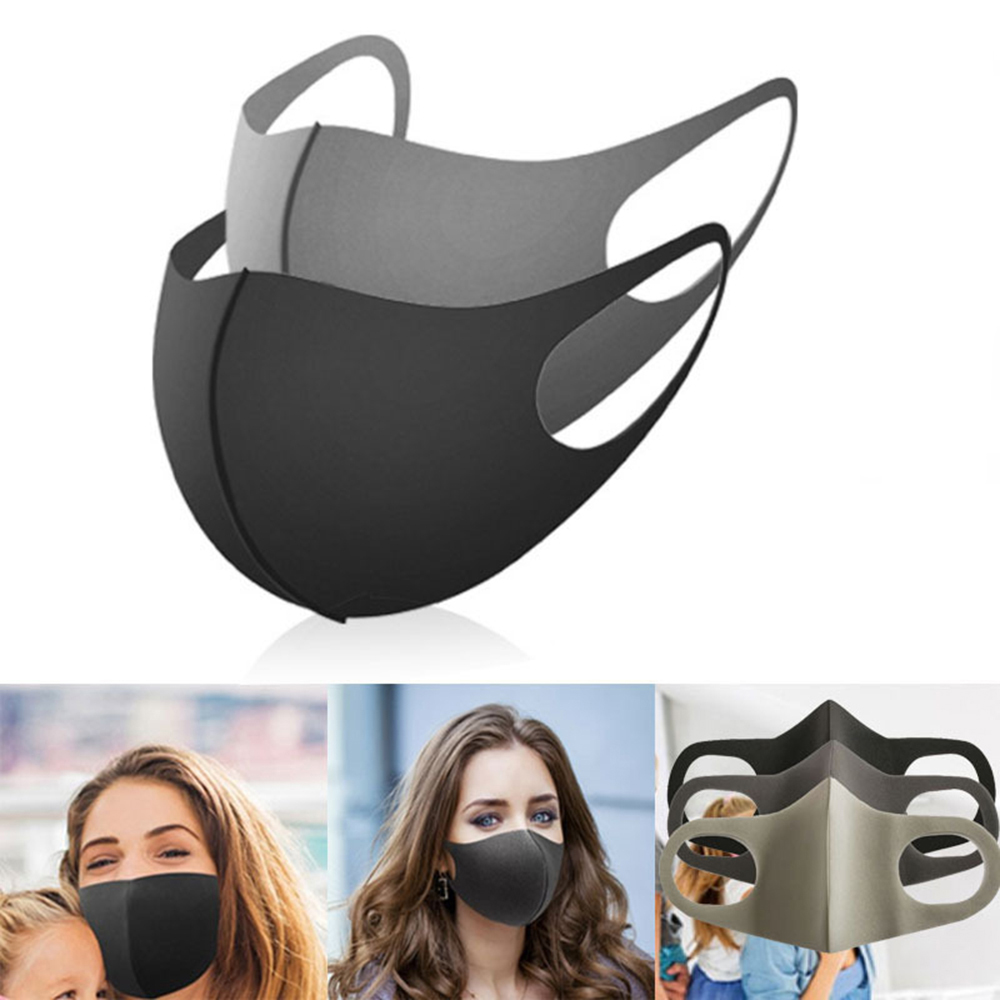 3PC Cotton Dustproof Face Mask Unisex Korean Style Outdoor  Cycling Anti-Dust Cotton Protective Cover Reusable Masks