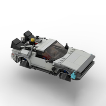 MOC-58776 Technical Car Back to the Futured Time Machine Deloreaning MOC Supercar Building Blocks DIY Toys Kids Birthday Gifts