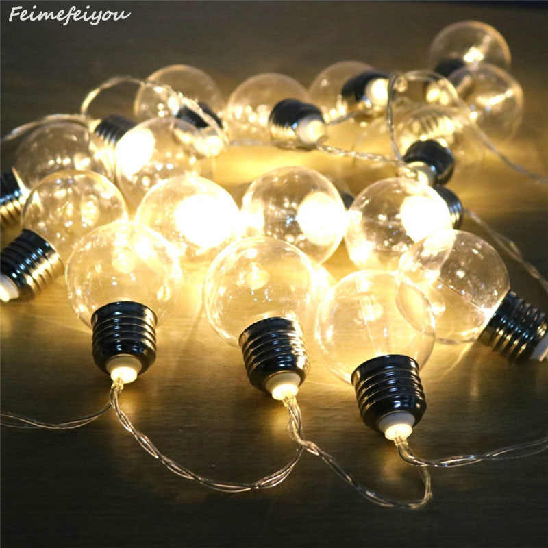 9 Colors LED String Fairy Lights Bulb E27 Lamp For Christmas Party Decoration