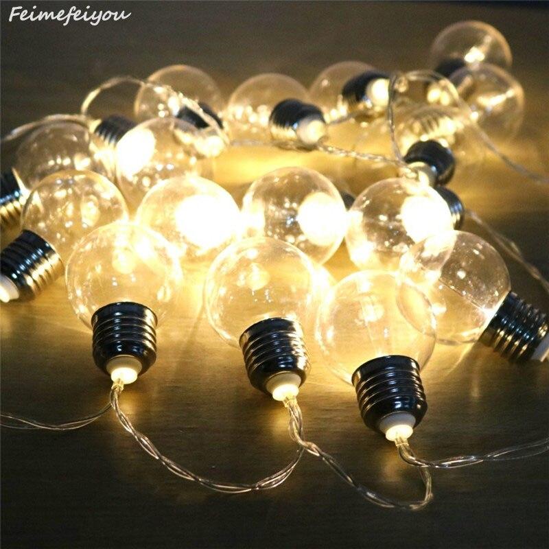 20 led corda de casamento luzes de fadas lâmpada led globo bateria e estilo usb led fada luz da corda para jardim ao ar livre guirlanda
