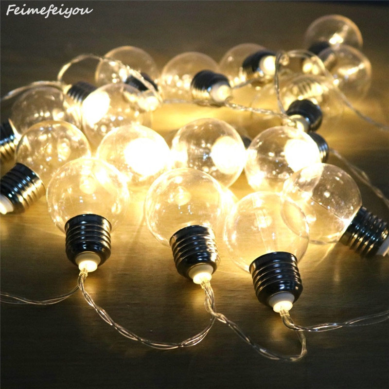 20 Led Wedding String Fairy Lights Bulb LED Globe Battery And USB Style Led Fairy String Light For Outdoor Garden Garland