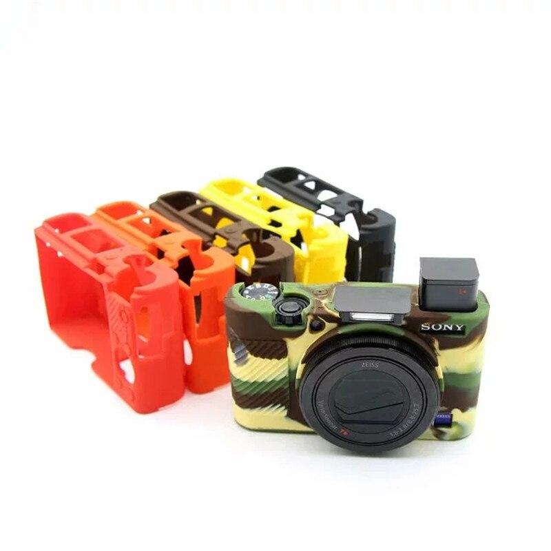 Чехол для камеры из силиконовой резины, чехол-сумка для Sony RX100 III M3 RX100m4 RX100 IV, RX 100m4, M4, RX100 V, M5, чехол-сумка для Sony RX100 III M3, RX100m4, RX100