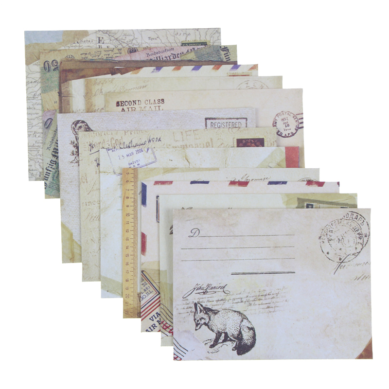 12 Pcs/lot 12 Designs Paper Envelope Cute Mini Envelopes Vintage European Style For Card Scrapbooking Gift Free Shipping