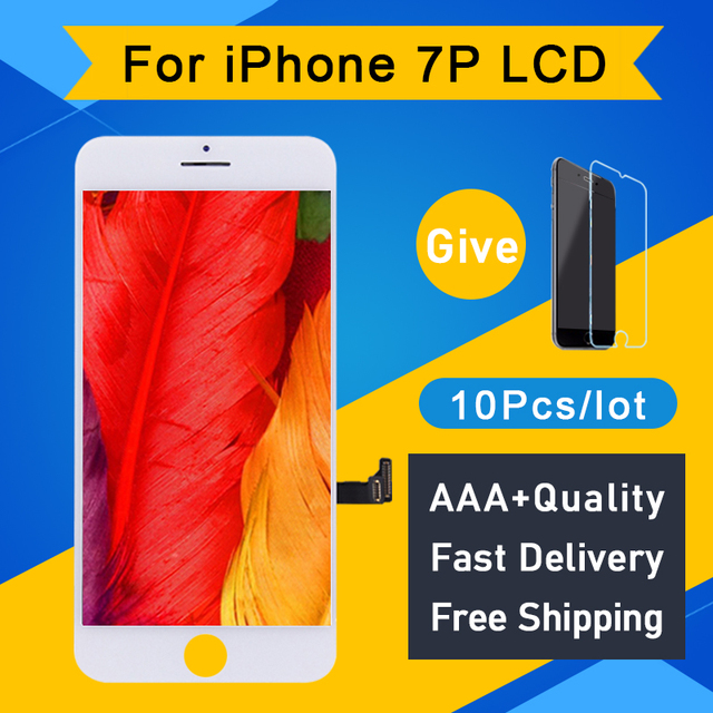 10PCS Garde AAA Quality For iPhone 7 Plus LCD Screen Pantalla Good 3D Touch Digitizer Display Assembly Replacement White black