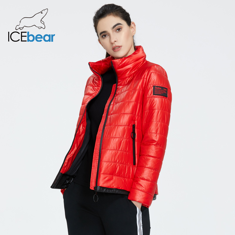 ICEbear 2020 Women Spring Jacket High Quality Short Coat Warm Female Clothing Fashion Casual  Apparel GWC20073I