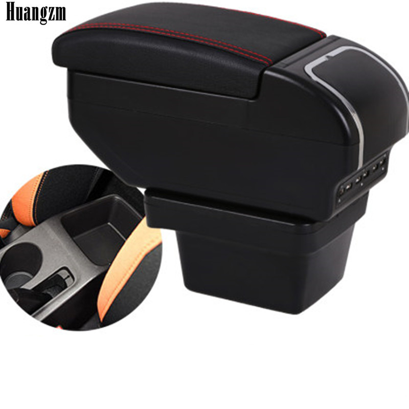 Dual layer Large Space Armrest box For Chery Tiggo 3X Central Store Content box with Cup holder 9 USB Charging modificatio(China)