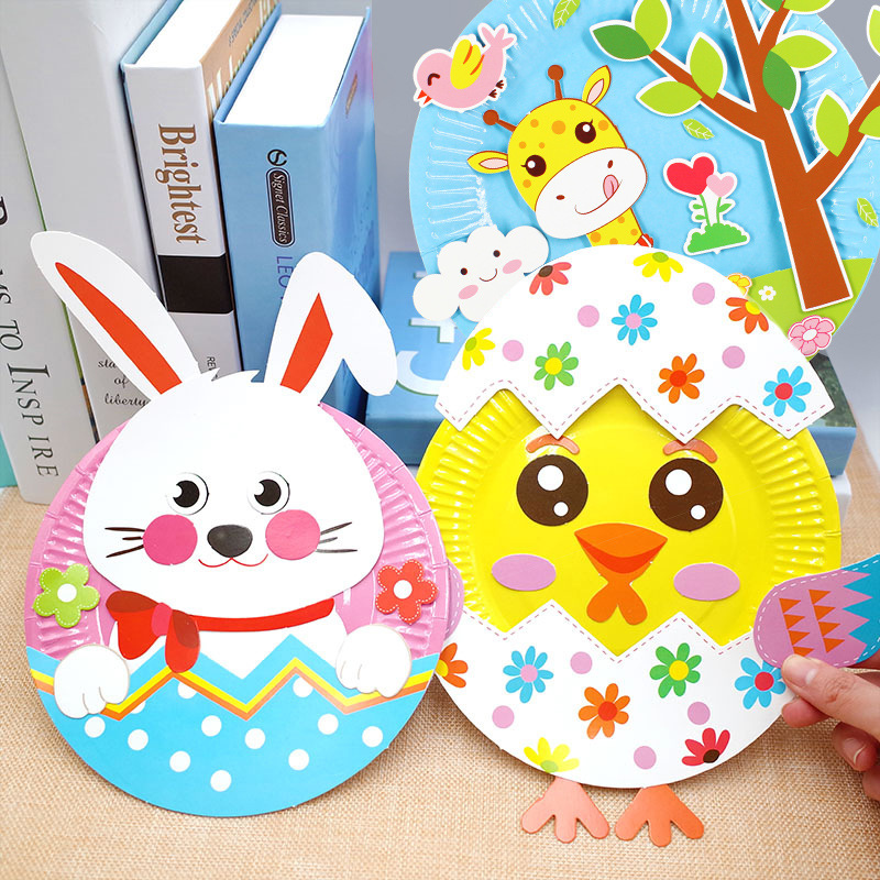 kindergarten lots arts crafts diy toys Puzzle Paper Tray crafts kids educational for children's toys girl/boy christmas gift 906(China)