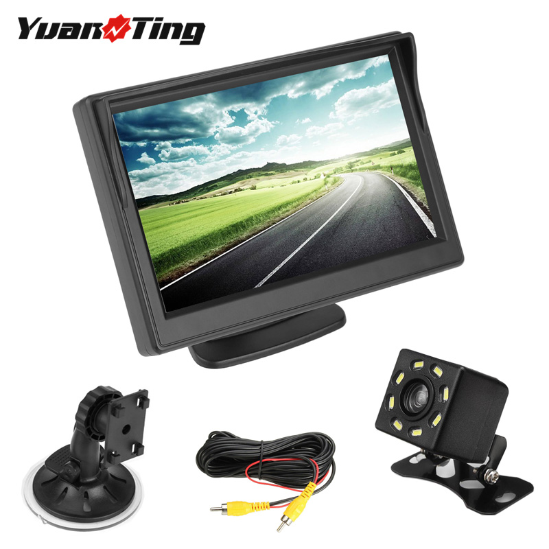Yuanting Camera-Sensor-Kit Car-Monitor Universal Night-Vision 5inch Rear Parking-Backup title=