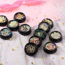MORDDA 12 cristales de estilo mezcla de decoración de diamantes de imitación para decoración de uñas de cristal decoración de uñas 3D joyería de uñas para manicura