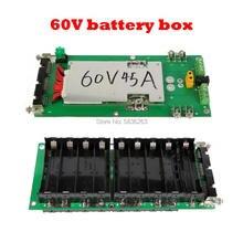 цена на 64V Battery Box 17S Power Wall Battery Box 18650 Series High Power Battery Pack 17S BMS Lithium Ion Lithium DIY Bicycle Battery