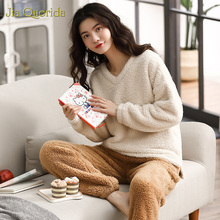 Fleece Pajamas Home Clothing Pjs Women Outwear Loose-Size Super-Warm New Winter Minimalist-Quality