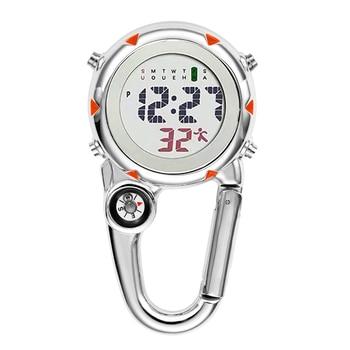 Digital Carabiner Clip Sport Hook Clock Hospital Gift Electronic Luminous Multi-function FOB Nurse Watch Outdoor Sport Watch