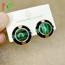 Fj4z новые трендовые серьги гвоздики для женщин дизайнерские