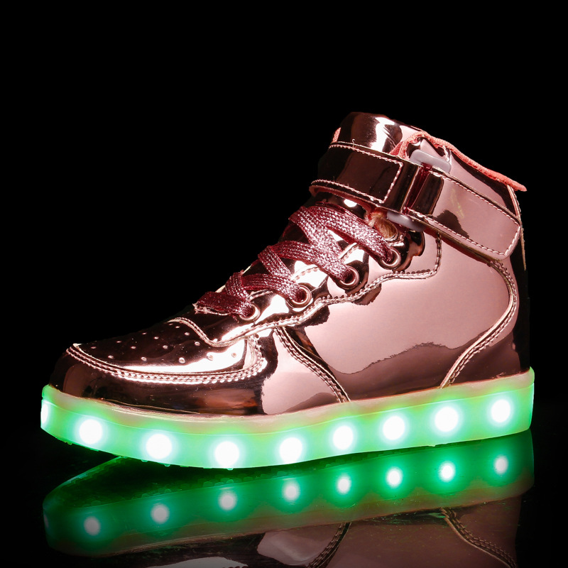 RISRICH Kids Glowing Light Up Shoes With Tennis Led For Toddler Boys Girls Usb Charging Luminous Sneakers Kids Blacklight Shoes