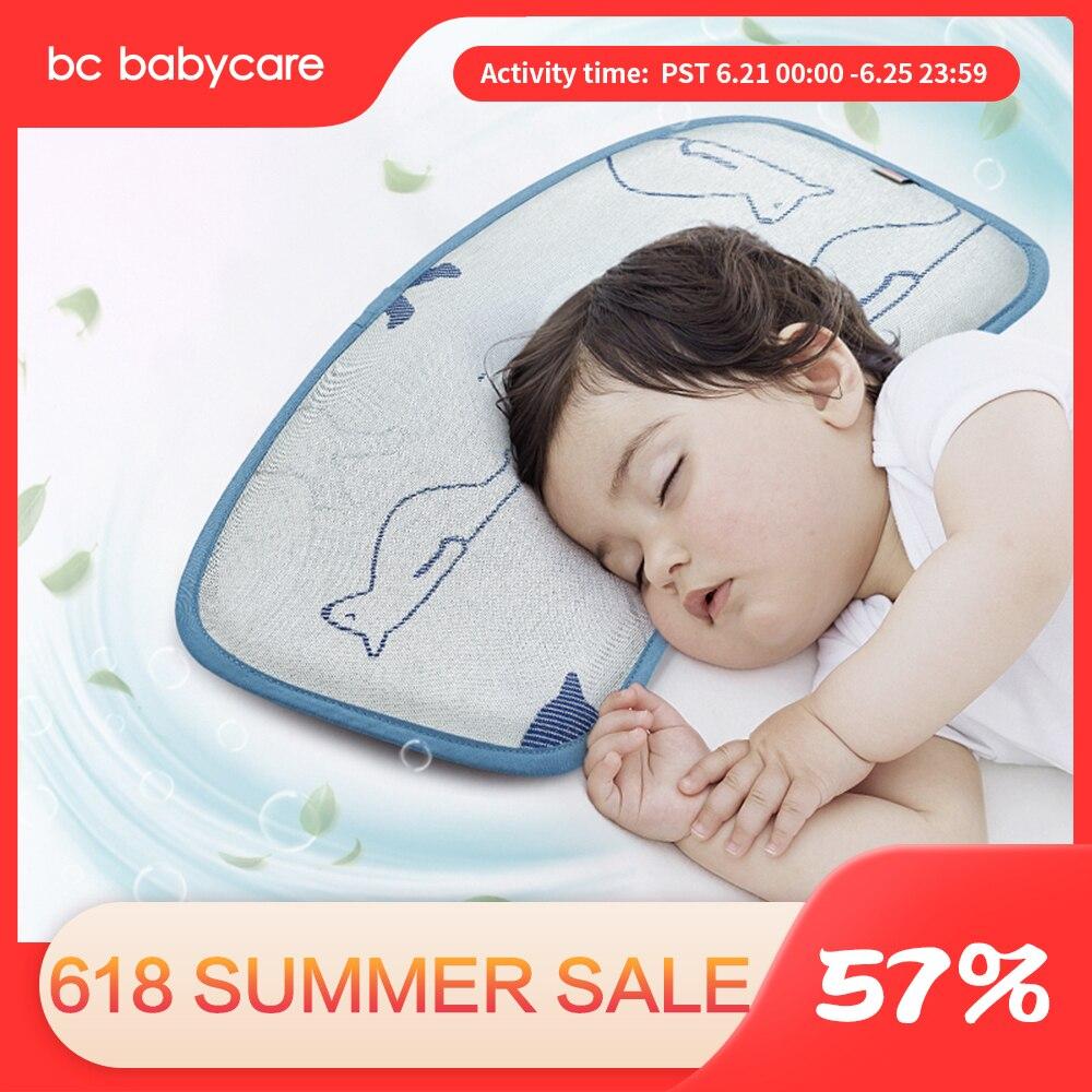 BC Pflege Für Kinder Eis seide Baby Kissen Sommer Tier Einstellbare Antibakterielle Anti-milbe Neugeborenen Kleinkind Kühlung Schlafen Kissen Matte