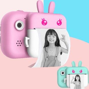 Cámara de impresión instantánea para niños con papel fotográfico térmico 2,4 pulgadas 1080P HD cámara de Video Digital para niños regalo de cumpleaños