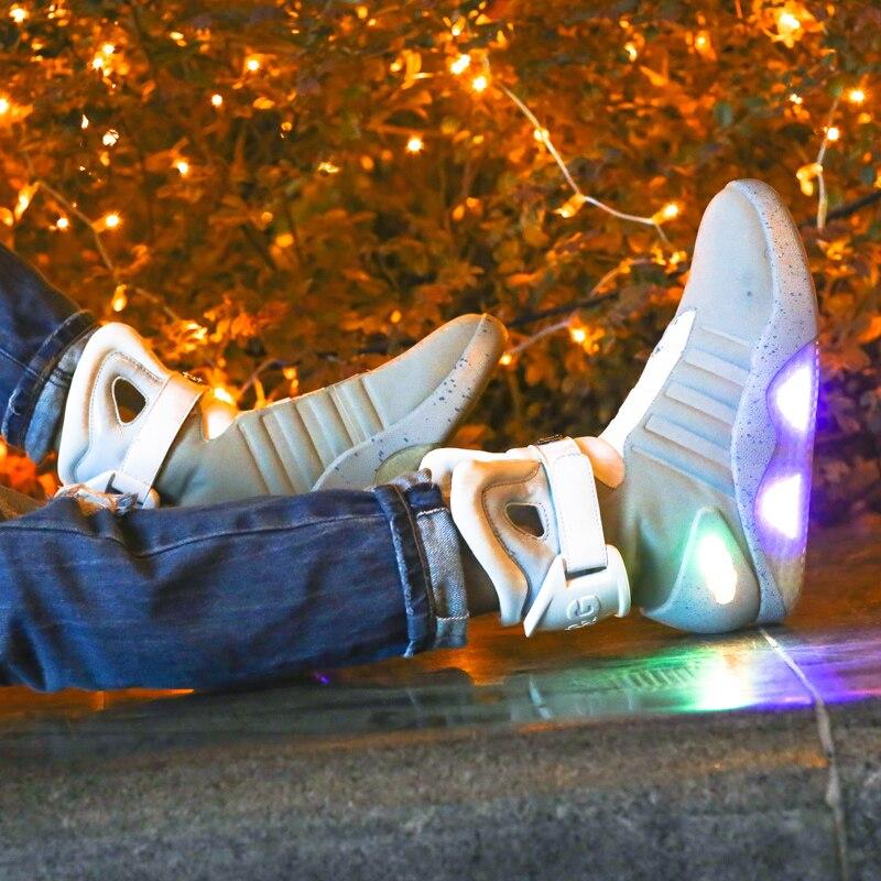 Обувь для взрослых с зарядкой через usb; светящаяся обувь для мужчин; модные светящиеся повседневные мужские кроссовки; Бесплатная доставка - 3