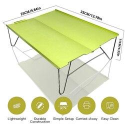 Mobili Pieghevoli-Tavolo In Alluminio Leggero-Piastra Barbecue Picnic Esterna di Campeggio Mini