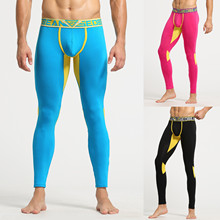 Legginsy pantalons de survêtement męskie drukowane bawełniane oddychające legginsy sportowe termiczny długi kalesony bielizna spodnie Спортивные tanie tanio Ołówek spodnie CN (pochodzenie) Mieszkanie Poliester NONE REGULAR 2020 Na co dzień Midweight Suknem Kostki długości spodnie