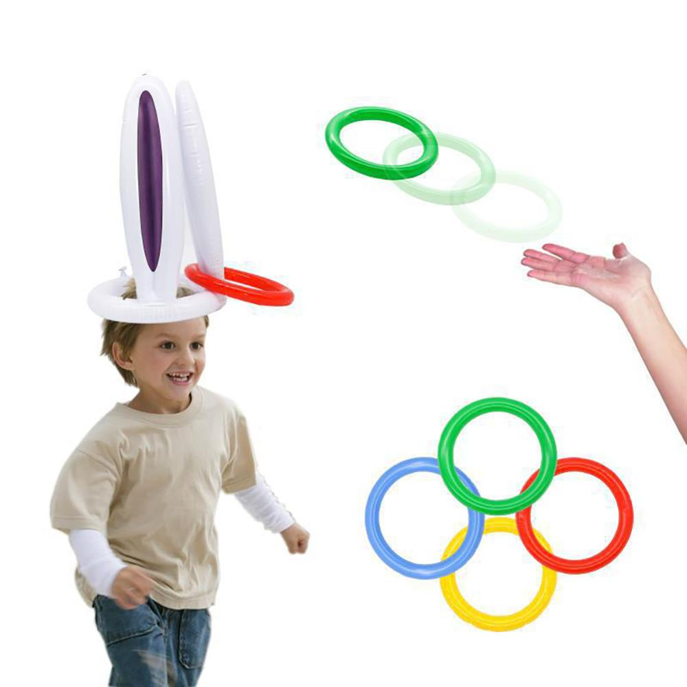 Family Party Parent-child Games New Easter Bunny Ear Ring Games Inflatable Children's Toys Throwing Toys Jouet Enfant Memorie