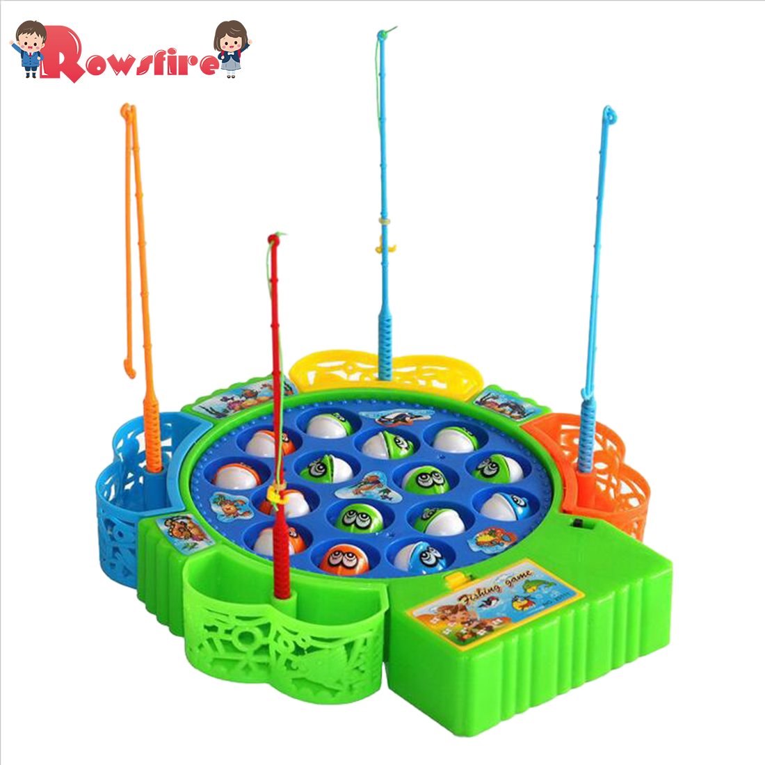New Arrival Electric Rotating Fishing Game Musical Fishing Educational Toys With 15 Fishes Toy For Children Hot Sale