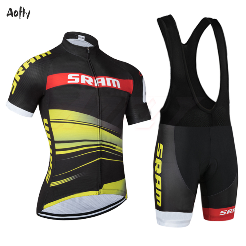 New SCOT Team SRAM Pro Cycling Jersey 2020 Short Sleeve Ciclismo Cycling Clothing Road Racing Bicycle Wear Polyester Breathable