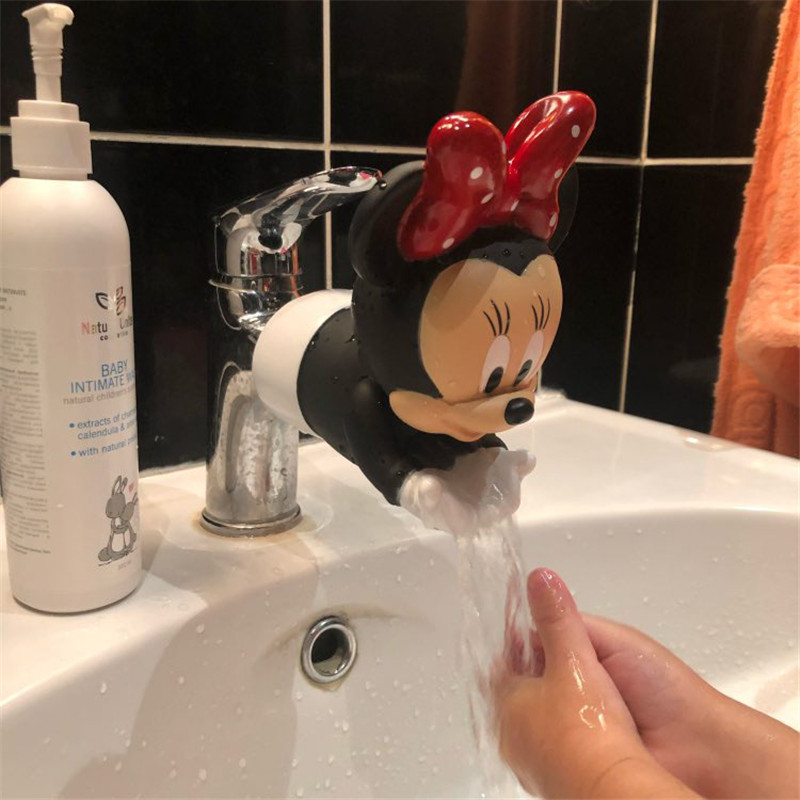 Disney Minnie Mickey Faucet Extender Water Saving Cartoon Faucet Extension Tool Help Children Washing hands Bathroom Kitchen|Action & Toy Figures|   - AliExpress