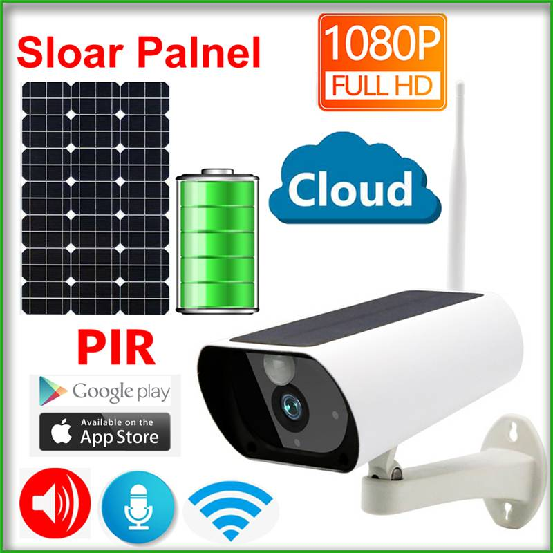 Baby Sleeping Monitors Solar Panel Battery 1080P IP Camera Wifi Wireless Security Waterproof Full HD Surveillance PIR Detection