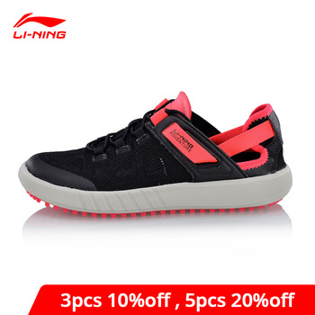 Li-Ning Women WATER 2018 Aqua Outdoor Shoes Comfort Breathable LiNing li ning Light Sport Shoes Adventure Sneaker AHLN002 XYD124