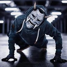 Japoński zabójca pełna maska lateksowa potwór zabawna maska Halloween przerażająca maska lateksowa na imprezę Cosplay rekwizyty śmieszne Cosplay dostaw tanie tanio CN (pochodzenie) Maski Unisex Dla dorosłych Horror Poliester