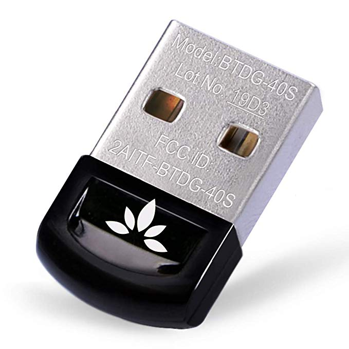[2 Year Warranty] Avantree USB Bluetooth 4.0 Adapter For PC, Wireless Dongle, For Stereo Music, VOIP, Keyboard, Mouse, S
