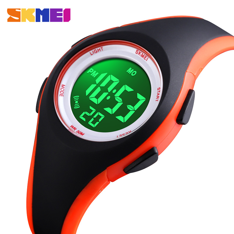 SKMEI Kids LCD Digital Watch Boys Girls Sport Watches Stop Watch 50M Waterproof Children Wristwatch Reloj Para Niños 1459 Clock
