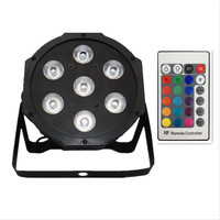 (2pcs) 무선 원격 제어 빠른 배송 LED SlimPar 트라이 7x9W RGB LED 무대 워시 파 라이트 DJ 7 DMX 채널