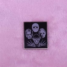 Michael Myers Masker & Jason Friday The 13th Horror Emaille Pin Halloween Horror Slasher Film Broche(China)