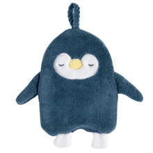 Strong Absorbent Coral Fleece Hanging Towel Cute Penguin Quick Dry Children Home Kitchen Dust Room Cartoon Cleaning Supplies
