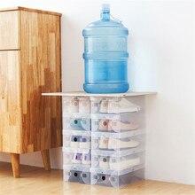 DIY Штабелируемый ящик для хранения коробка для обуви ПП толстый прозрачный матовый цвет пластиковый шкаф отделка