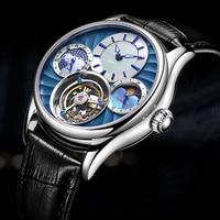 をイソップ 100% リアルトゥールビヨン自動機械式時計男性腕時計メンズ腕時計トップブランドの高級スケルトン時計レロジオmasculino